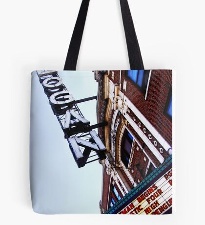 logan square movie theater, chicago Tote Bag