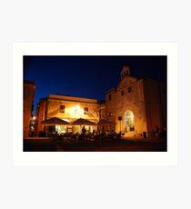 Classic Restaurant -Alghero Art Print