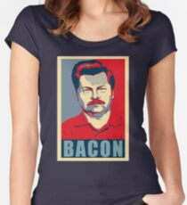 Ron hope swanson  Women's Fitted Scoop T-Shirt