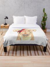 Ziggy Stardog - Greyhound  Throw Blanket