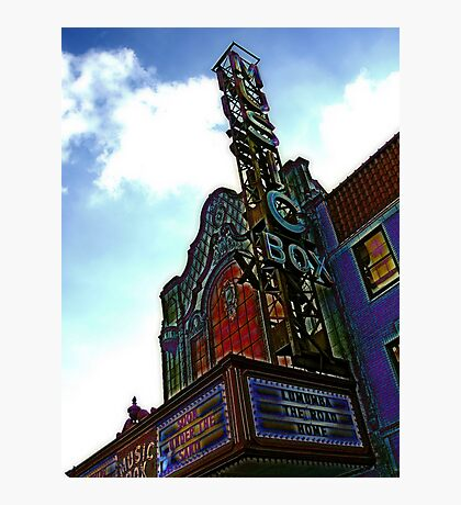 music box movie theater, chicago Photographic Print