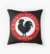 Black Rooster Florence Chianti Classico  Throw Pillow