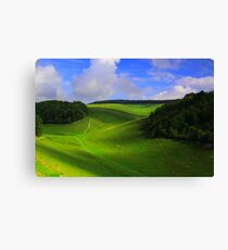 The Nature Of Cloud Shadows  Canvas Print