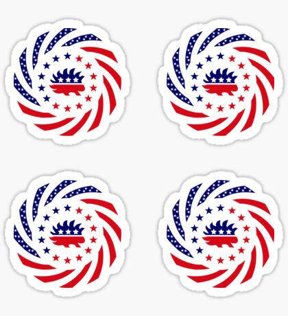 Libertarian Murican Patriot Flag Series Glossy Sticker