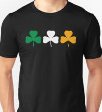 Ireland Shamrock Flag Slim Fit T-Shirt