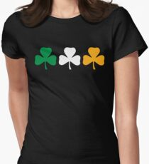 Ireland Shamrock Flag Women's Fitted T-Shirt