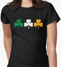 Ireland Shamrock Flag Women's Fitted T-Shirt