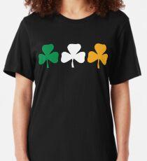 Camiseta ajustada Bandera del trébol de Irlanda