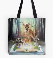 Believe In Magic • (Forest Friends: Bambi / Thumper / Flower) Tote Bag