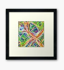 Neural network motif Framed Print