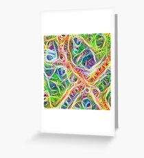 Neural network motif Greeting Card