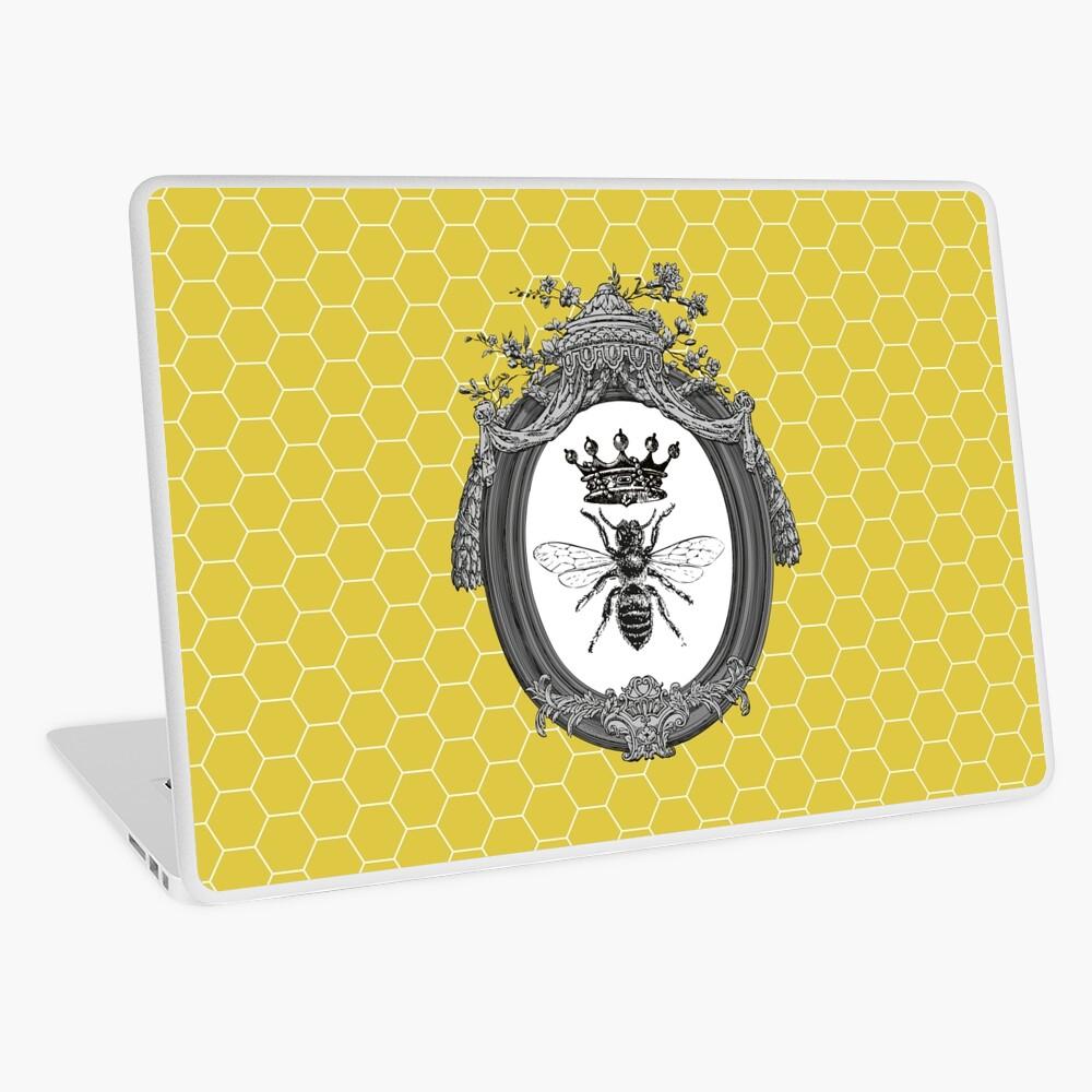 Queen Bee | Vintage Honey Bees | Honeycomb Patterns |  Laptop Skin
