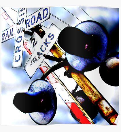 railroad crossing gates Poster