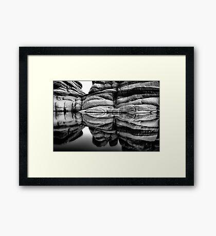 MonoStacks Framed Print