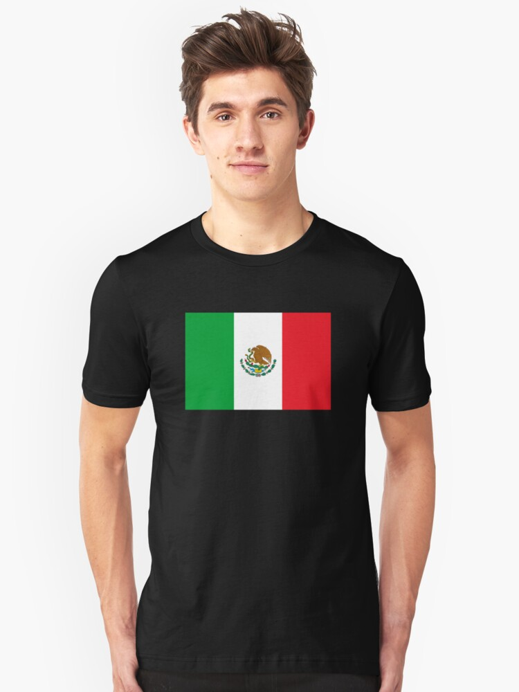 Mexico Flag Mexican Flag Unisex T-Shirt Front