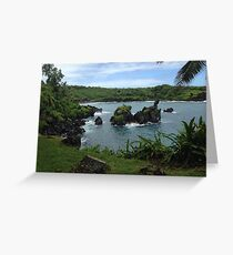 Hello Hawaii  - Black Sands Beach Greeting Card