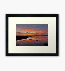 Tuggerah Lake. Sunrise.Australia. Framed Print