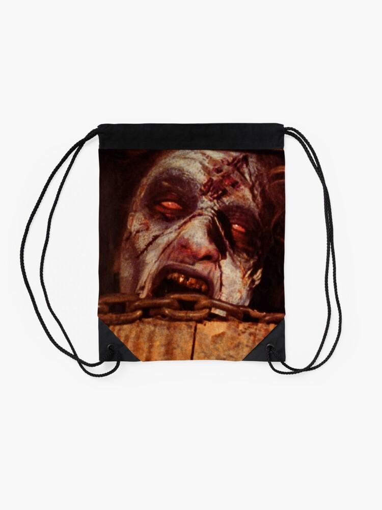 Alternate view of Posesion Infernal Basement  Drawstring Bag