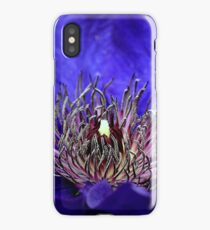 Blue Clematis  iPhone Case/Skin