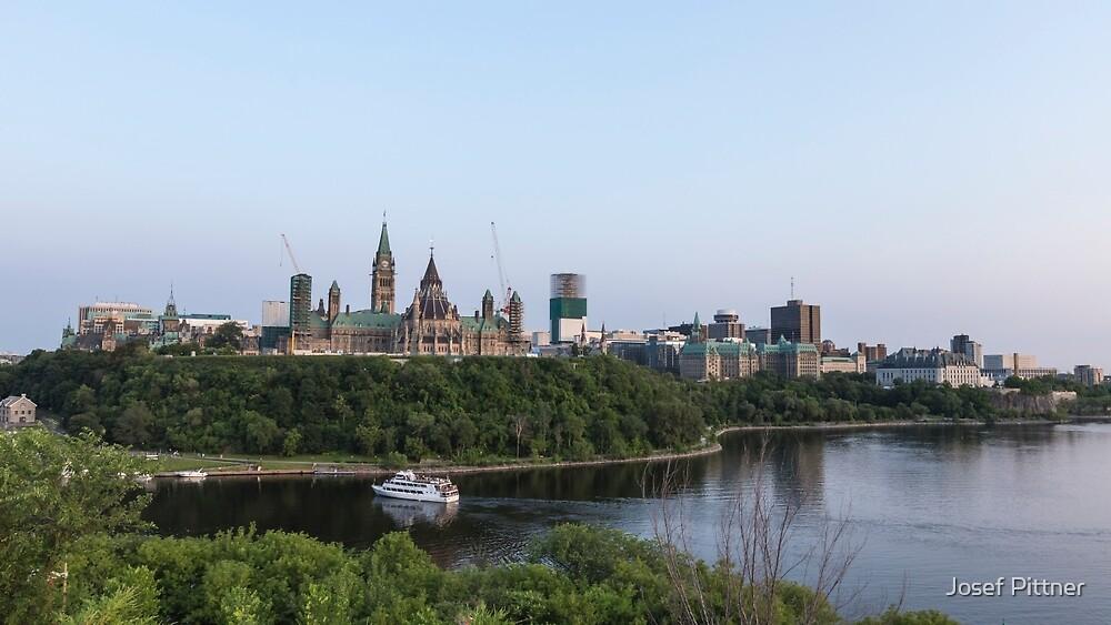 City of Ottawa at dusk by Josef Pittner