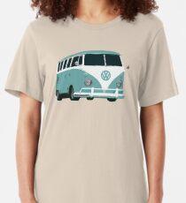 Camiseta ajustada bus de samba - color estilizado