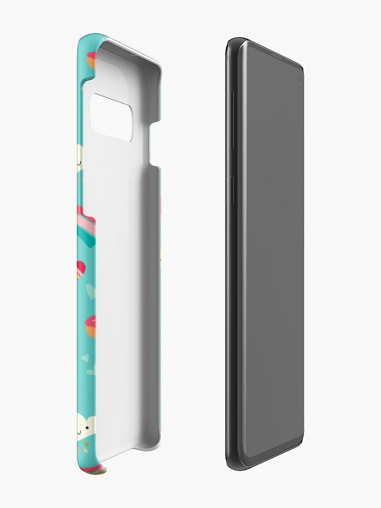 Alternate view of Tween Girl Icons Rainbows Emojis Unicorns Roller Skates Case & Skin for Samsung Galaxy