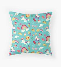 Tween-Mädchen-Ikonen-Regenbogen-Emojis-Einhorn-Rollschuhe Bodenkissen