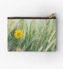 Yellow Flower in Field Zipper Pouch