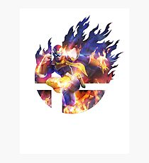 Smash Hype - Captain Falcon Photographic Print