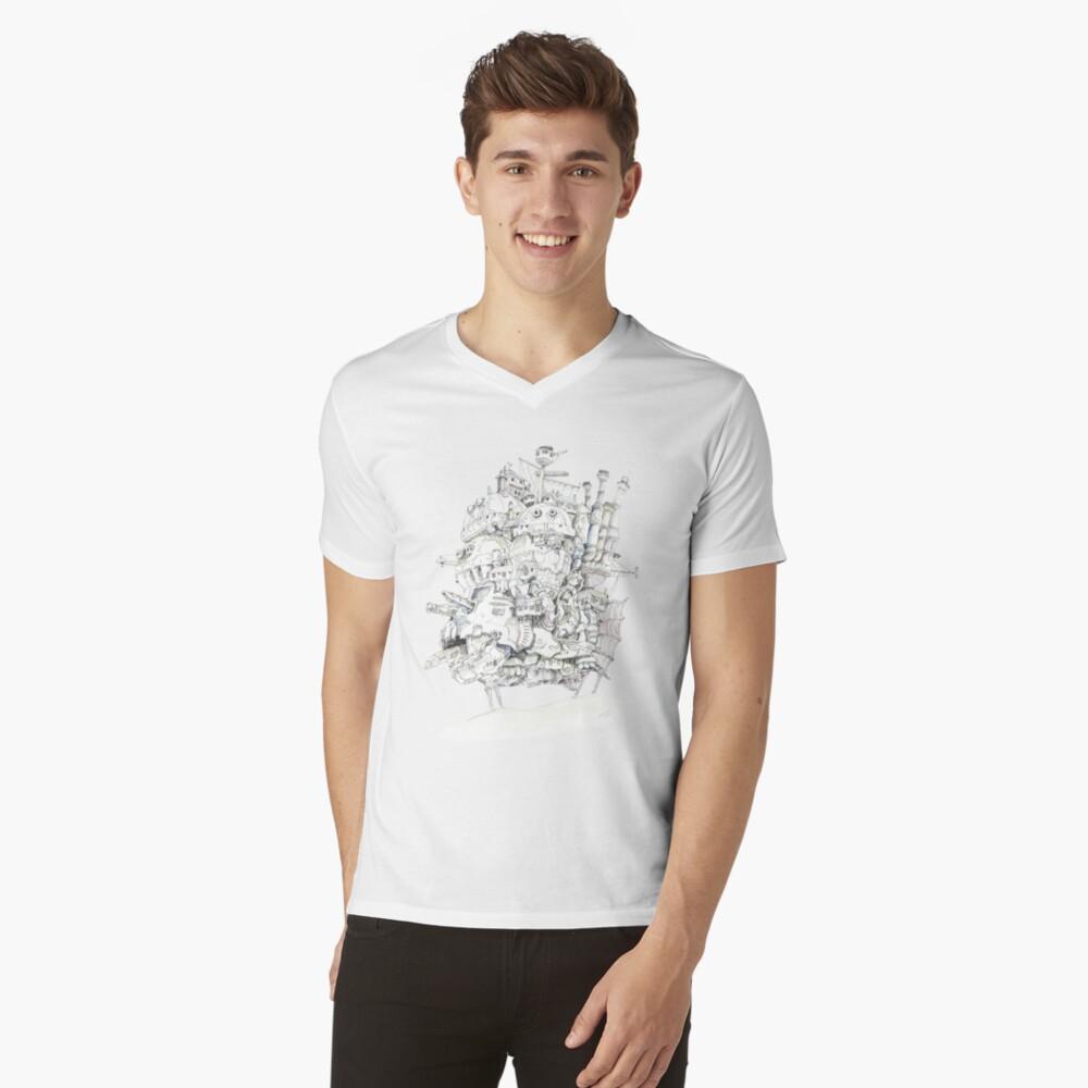 Howl's Moving Castle Mens V-Neck T-Shirt Front