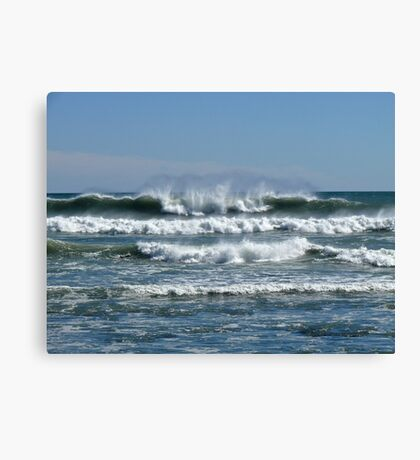 Waves from the Atlantic - Wind from the North - Point Judith - Rhode Island Canvas Print