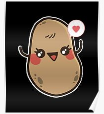 Kawaii Potato Posters Redbubble
