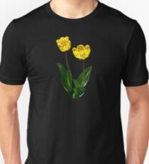 Backlit Yellow Tulips T-Shirt