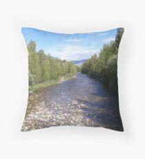 Mission Creek Riverbed - Bridge View Throw Pillow