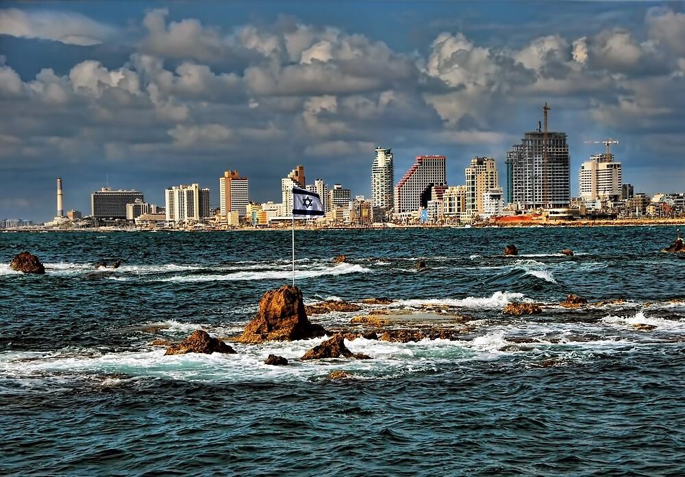 Tel Aviv shoreline by Ronsho