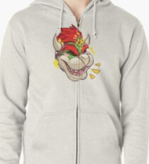 Happy Bowser Day! Zipped Hoodie