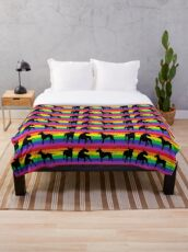 Somewhere Over the Rainbow - English Bull Terrier Throw Blanket
