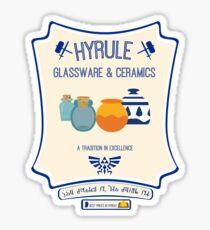 Hyrule Glassware & Ceramics Sticker