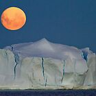 Blue (full) moon over Antarctica by Michael S Nolan