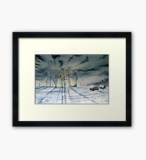 Tumulus by Moonlight - Garrowby Hill Framed Print