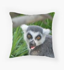 Lemur Attack! Throw Pillow