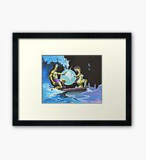 Frankenstein Surfers Tandem Monsters Framed Print