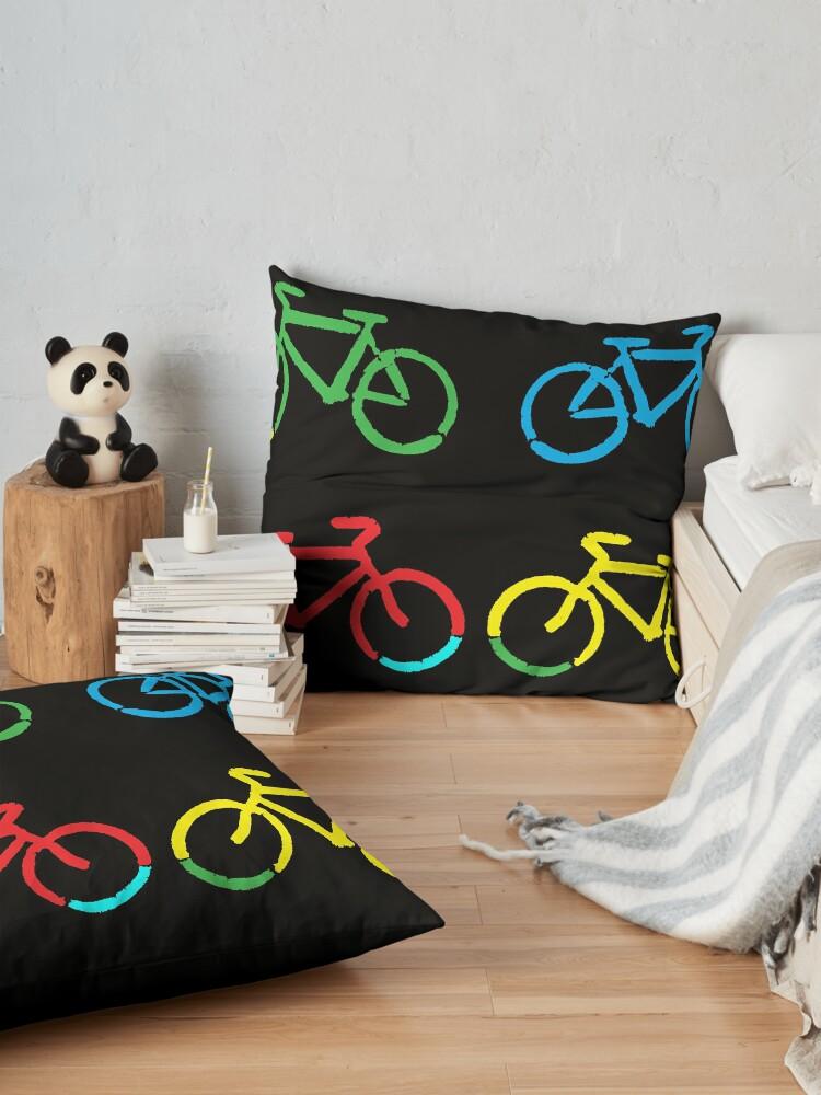 Alternate view of Bike Race Floor Pillow