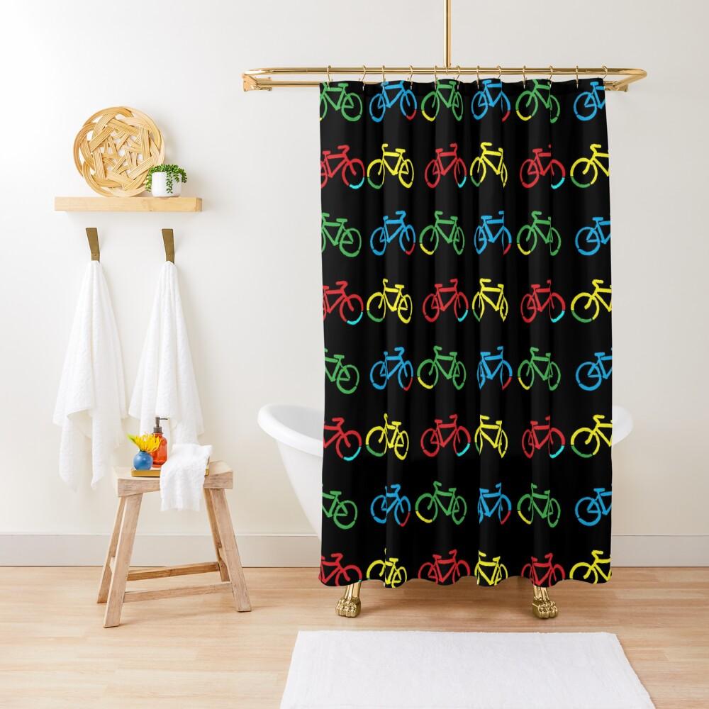 Bike Race Shower Curtain