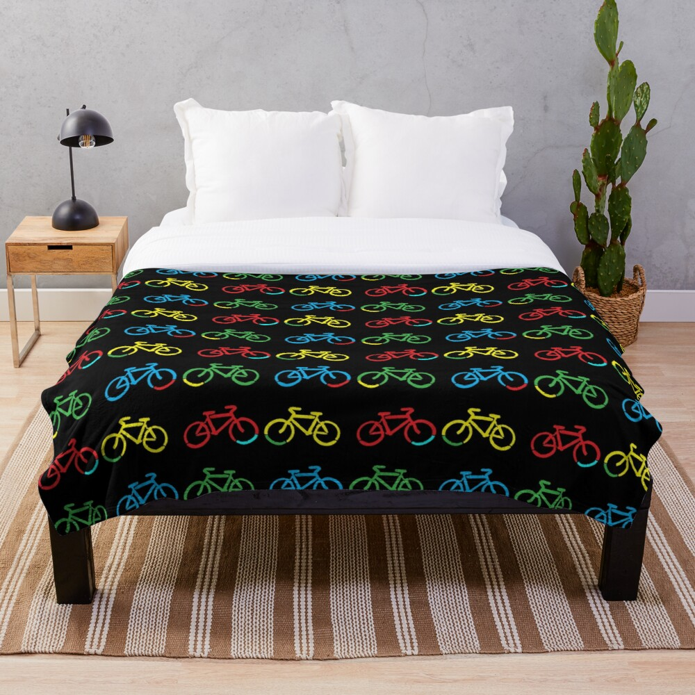 Bike Race Throw Blanket