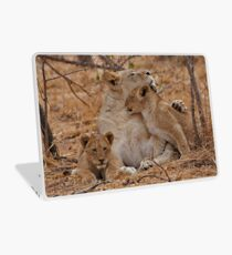 Lioness With Her Cubs Laptop Skin