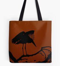 Marabou Stork Silhouette Tote Bag