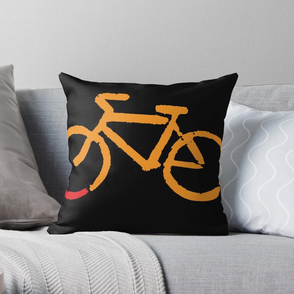 Bike Too Throw Pillow