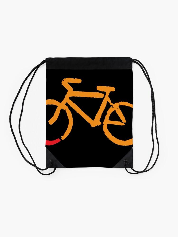 Alternate view of Bike Too Drawstring Bag