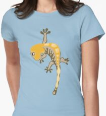 Simple Crested Gecko Womens Fitted T-Shirt
